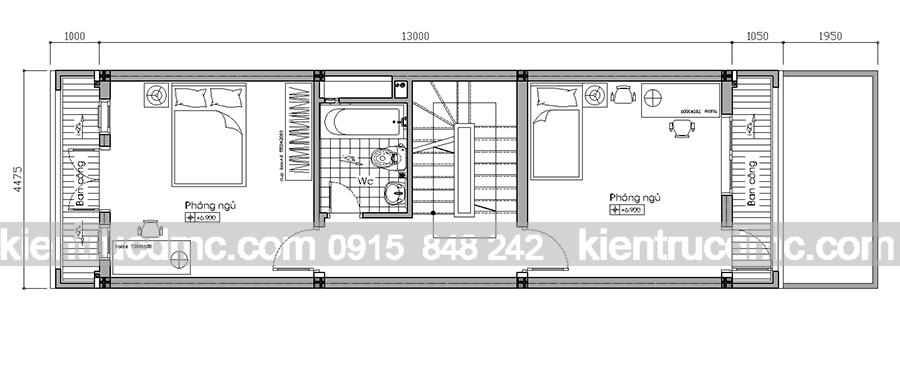 Tư vấn thiết kế nhà phố 4 tầng hiện đại