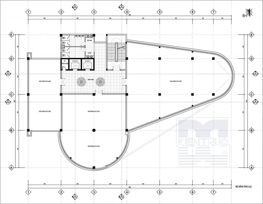Thiết kế kiến trúc - Thiết kế công trình trung tâm thương mại Bắc Ninh