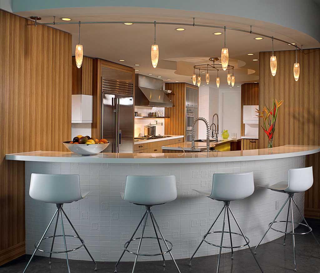 Tư vấn thiết kế quầy bar trong phòng bếp hiện đại