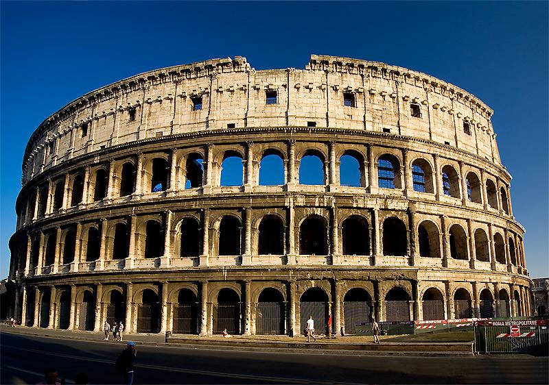 Kiến trúc đẹp đấu trường la mã colosseo
