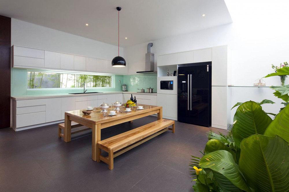 Thiết kế nội thất phòng ăn hài hòa ánh sáng