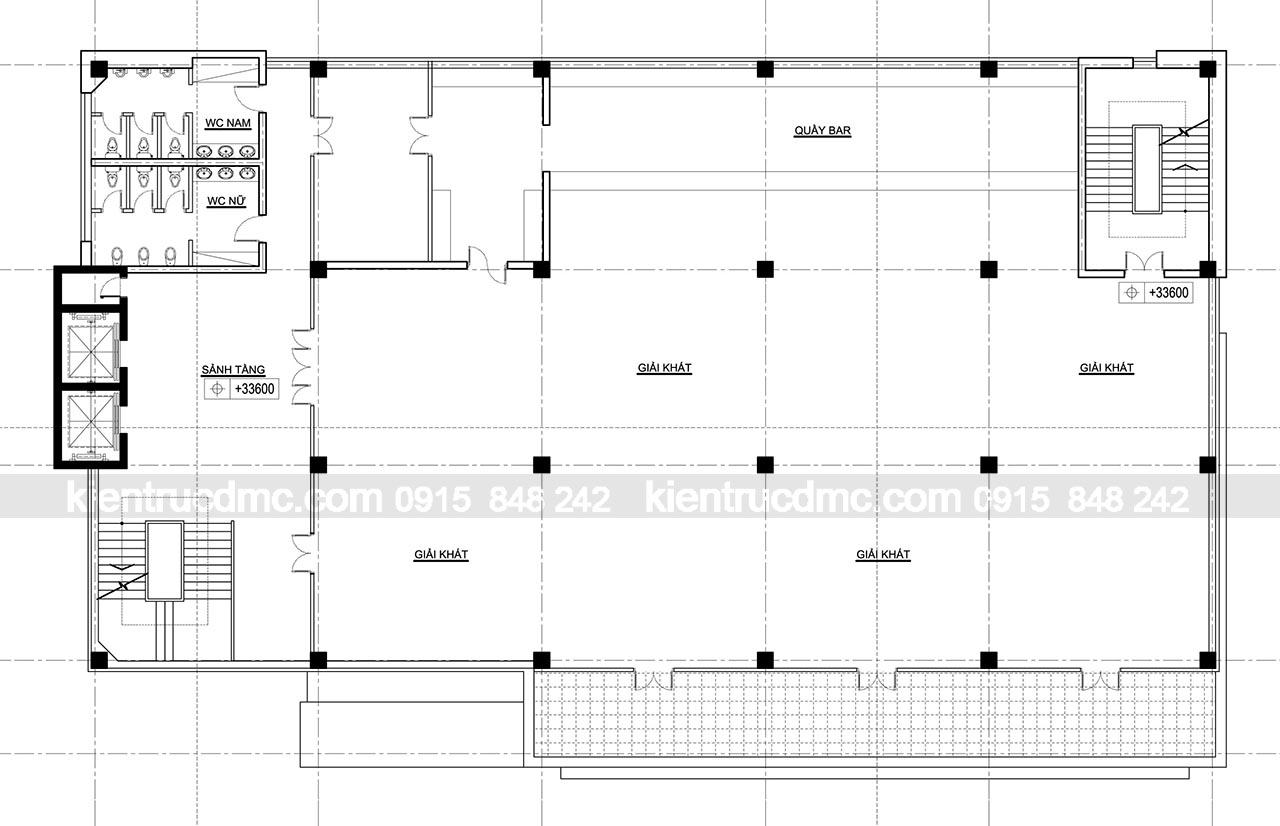 Thiết kế trung tâm thương mại Hải Hà- thiết kế nhà cao tầng