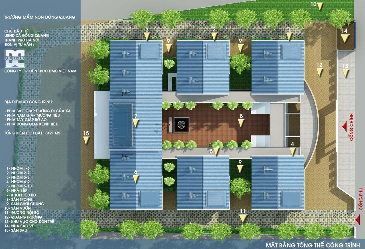 Mặt bằng tổng thể - thiết kế  trung tâm thương mại Hải Hà