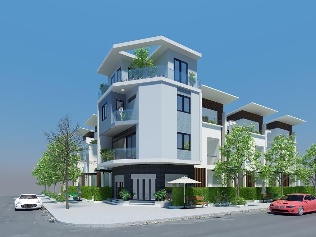 mẫu số 10 - Mẫu thiết kế nhà phố hai mặt tiền hiện đại