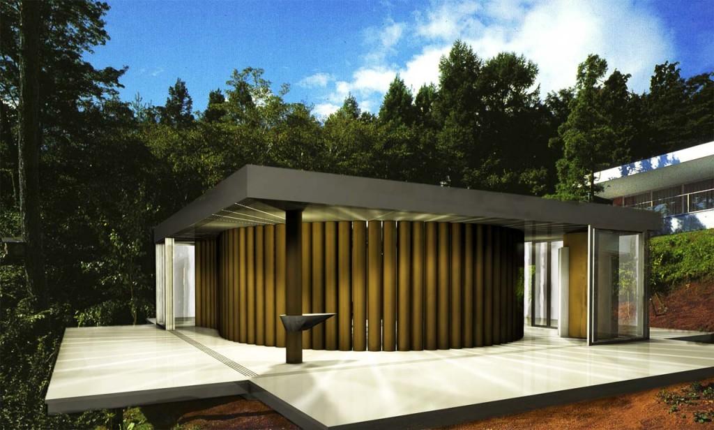 kiến trúc ngôi nhà giấy