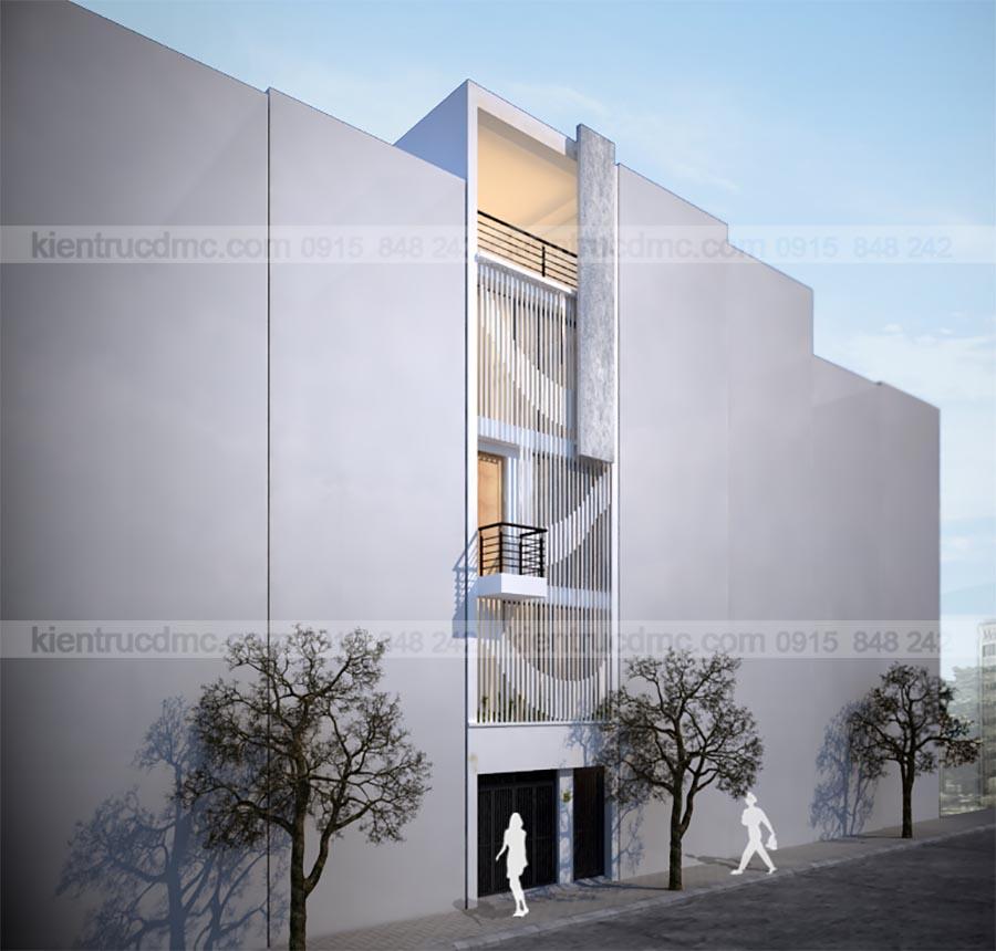 Thiết kế nhà đẹp, thiết kế nhà lô phố 5 tầng 4.14m mặt tiền: