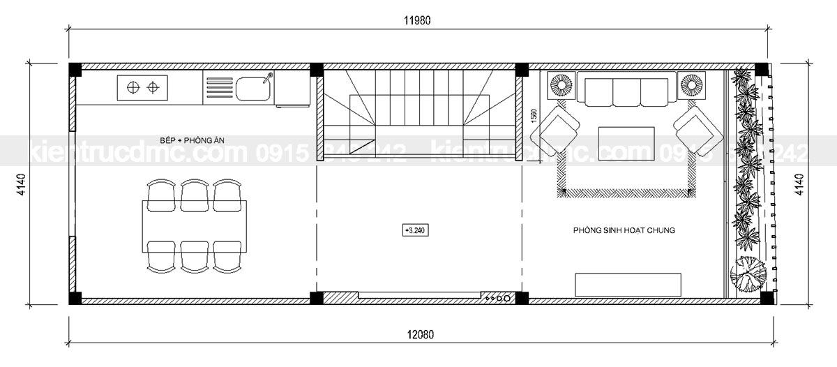 Thiết kế nhà đẹp, thiết kế nhà lô phố 5 tầng 4.14m mặt tiền
