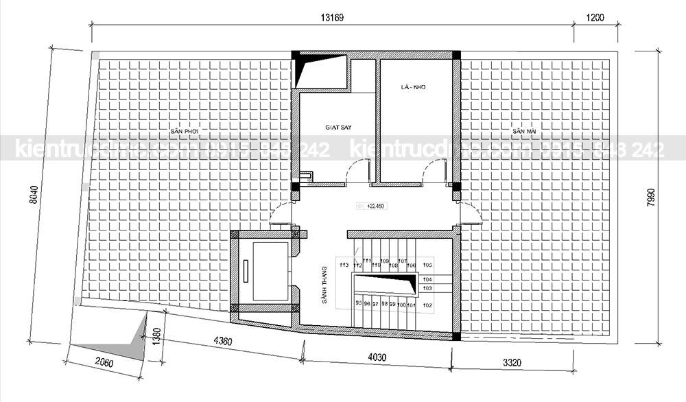 Thiết kế chung cư mini 8 tầng