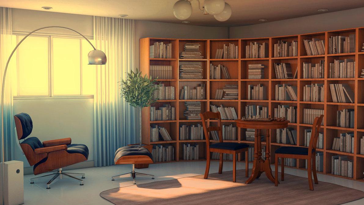 Thiết kế phòng đọc sách với màu sắc phù hợp