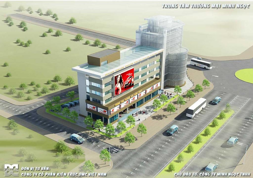 Phối cảnh tổng thể - Thiết kế trung tâm thương mại Minh Ngọc