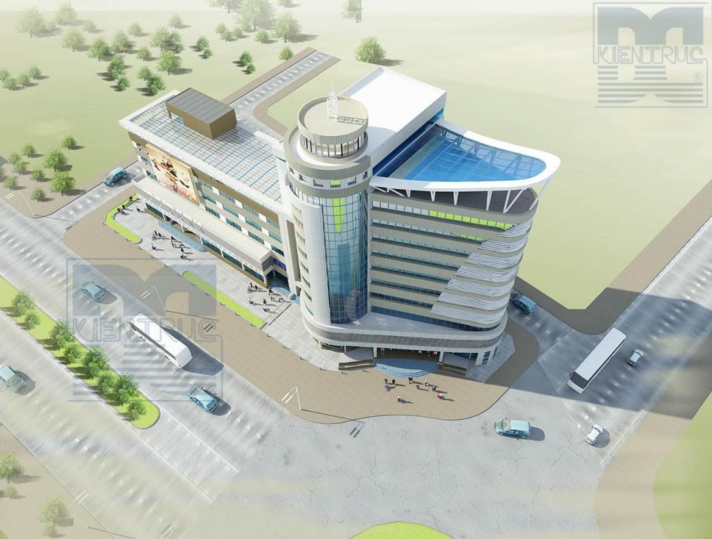 Thiết kế kiến trúc - Thiết kế trung tâm thương maiji - trung tâm thương mại Bắc Ninh