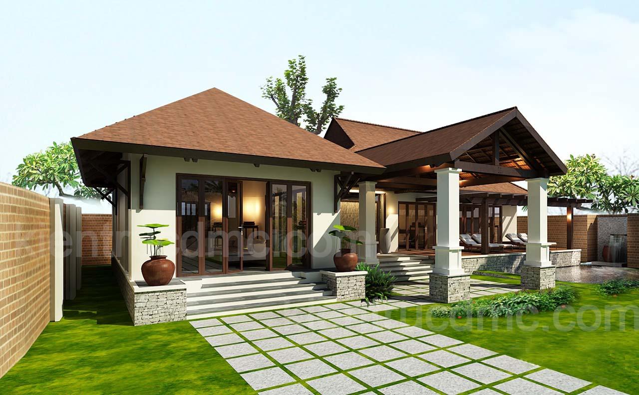 Thiết kế nhà đẹp, Thiết kế nhà vườn đẹp 1025m2 hải phòng