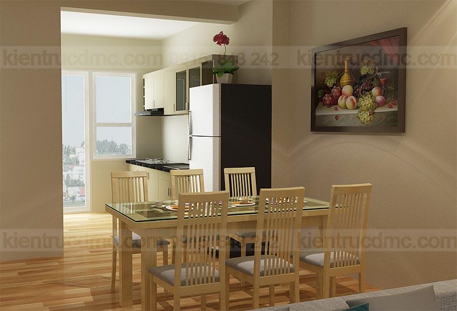 Thiết kế nội thất căn hộ mini chung cư Mường Thanh