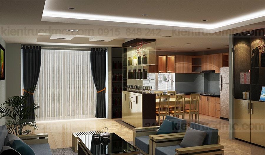 Thiết kế nội thất căn hộ chung cư CT8 Tây Hồ, nội thất chung cư mini
