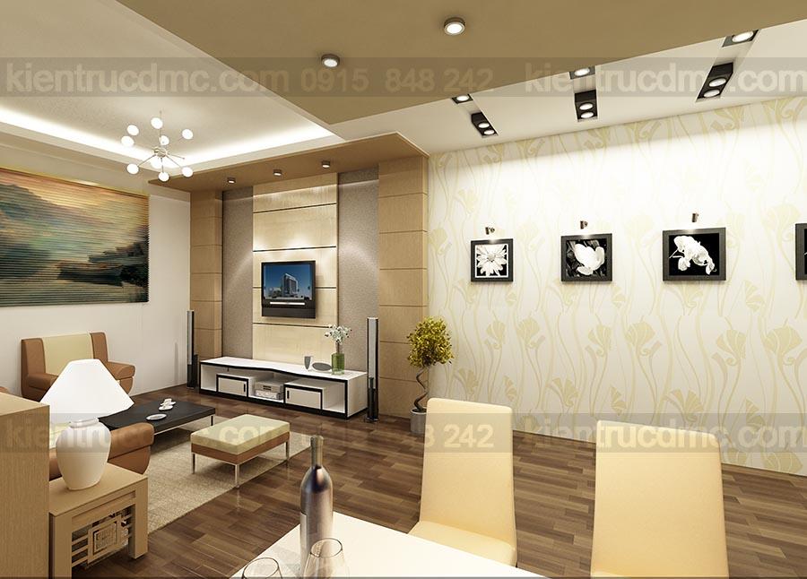 Thiết kế cải tạo nột thất căn hộ mini chung cư sông đà
