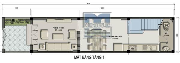 Tư vấn thiết kế biệt thự phố 3 tầng