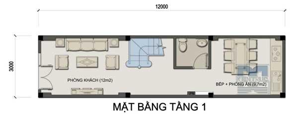Tư vấn thiết kế nhà phố 3 tầng 36m2 hợp tuổi canh thân