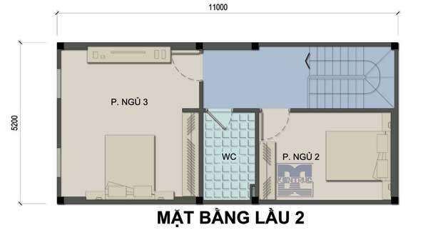 Tư vấn thiết kế nhà phố 3 tầng 36m2 hợp tuổi Canh Thân miễn phí