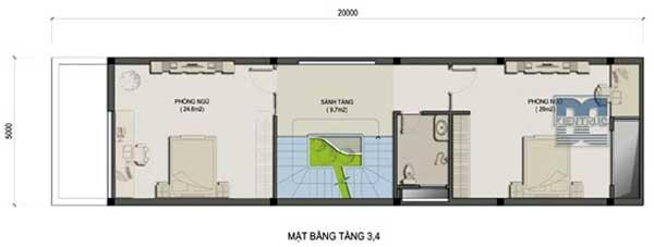 Tư vấn thiết kế nhà phố 5 tầng 100m2