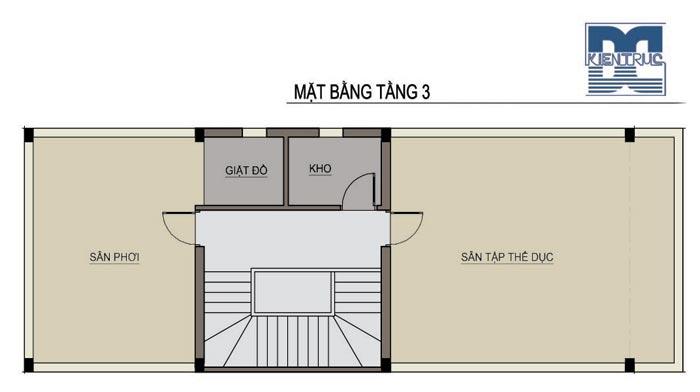 Tư vấn thiết kế nhà phố 3 tầng 90m2