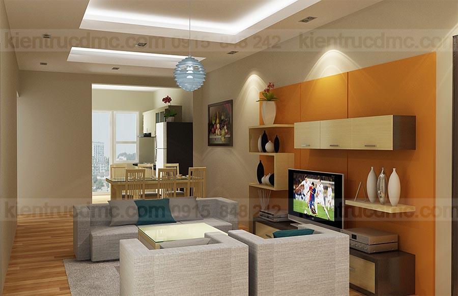 Thiết kế thi công nội thất căn hộ mini chung cư Mường Thanh