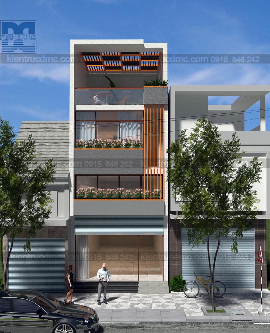 Thiết kế nhà ở kết hợp kinh doanh 5m x 17m