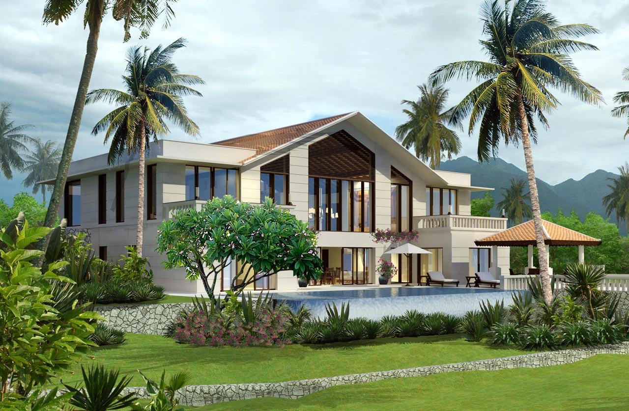 Thiết kế nhà vườn đẹp phong cách