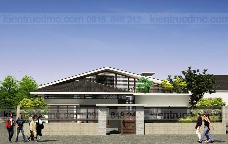 thiết kế nhà vườn 195m2, thiết kế nhà cấp 4