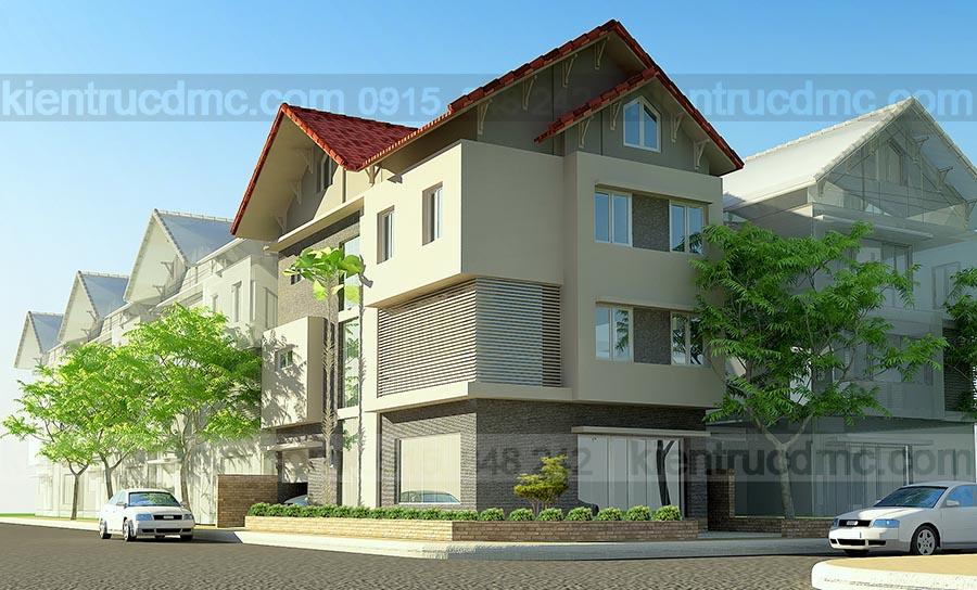 thiết kế biệt thự 3 tầng 230m2
