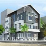 Thiết kế biệt thự 4 tầng phong cách hiện đại