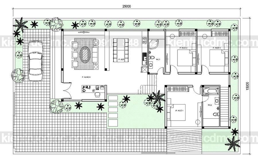 Thiết kế nhà vườn 2 tầng đẹp hện đại và thời thượng