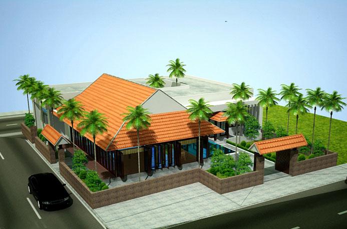 Thiết kế nhà vườn 1 tầng đẹp phong cách