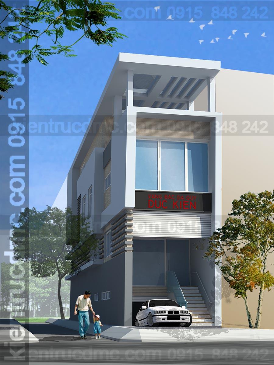 Thiết kế nhà phố đẹp 4 tầng hiện đại