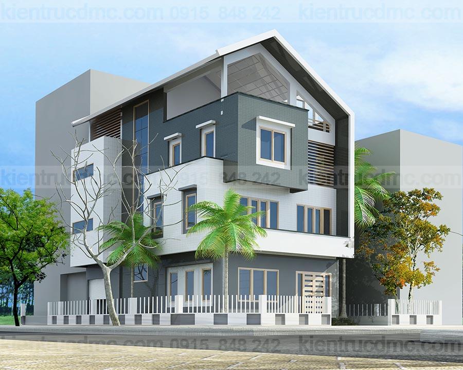 Thiết kế biệt thự 4 tầng phong cách hiện đại, sang trọng.