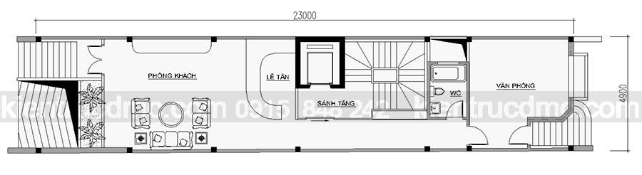 Thiết kế nhà ống hiện đại 7 tầng sang trọng