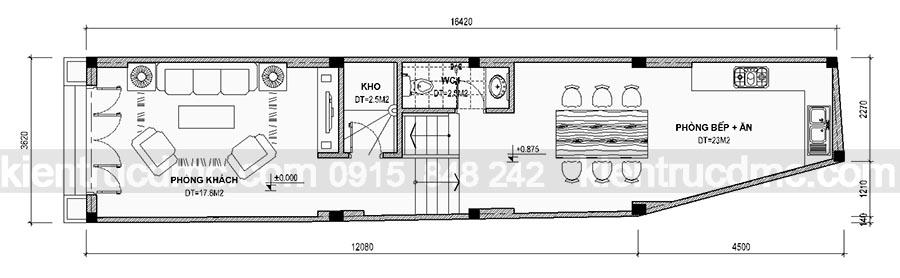 Thiết kế nhà phố 5 tầng mặt tiền hẹp 3,62m2 đẹp