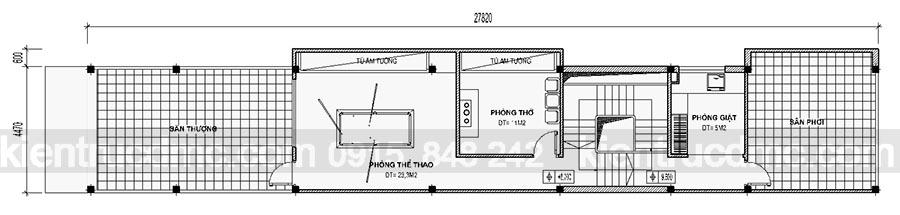 Thiết kế nhà phố đẹp 4 tầng hiện đại sang trọng