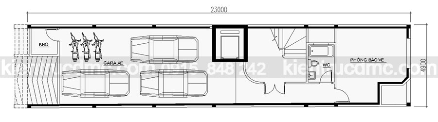 Thiết kế nhà ống hiện đại 7 tầng