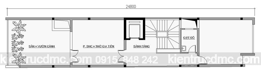 Thiết kế nhà ống hiện đại 7 tầng phong cách