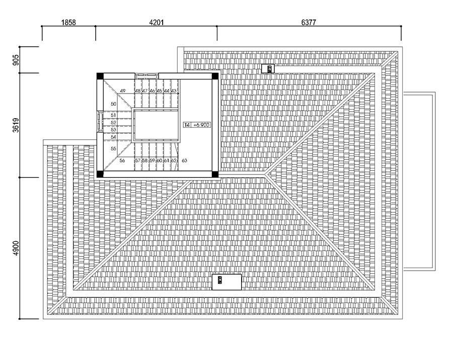 Thiết kế biệt thự trên đất 199m2