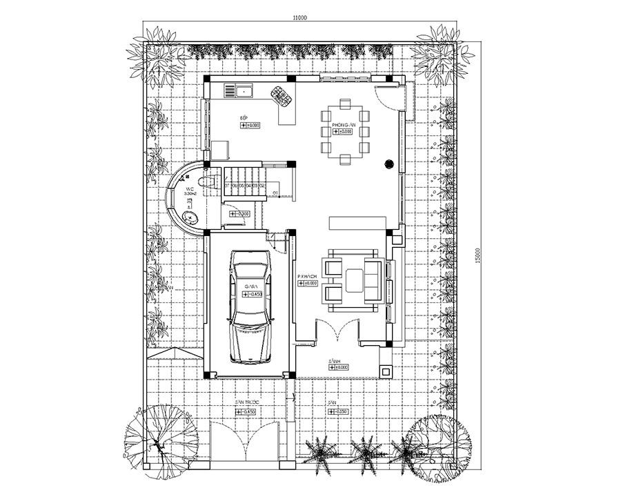 Thiết kế biệt thự hiện đai j trên đất 165m2