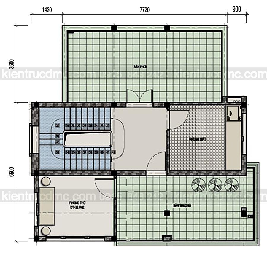Thiết kế biệt thự 3 tầng phong cách hiện đại  và sang trọng