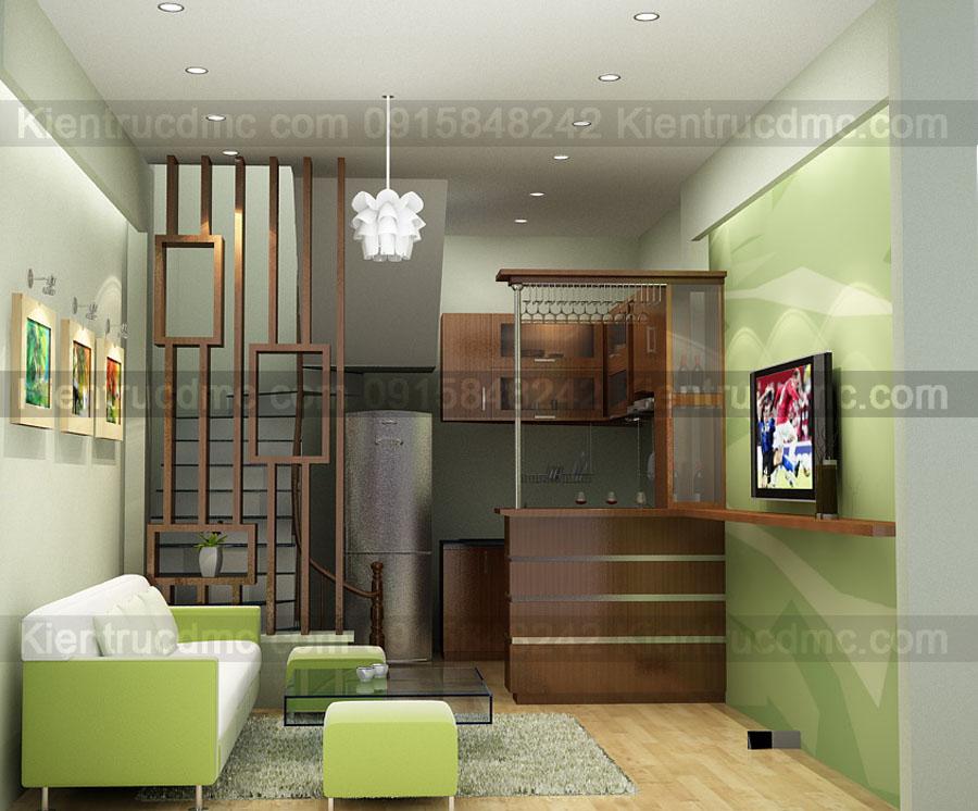 Thiết kế nội thất nhà ở 4 tầng diện tích 20m2