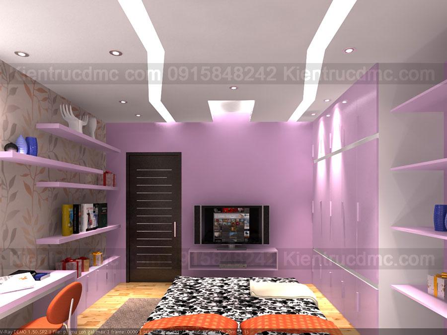 Thiết kế nội thất nhà ống 4 tầng diện tích 94,5m2