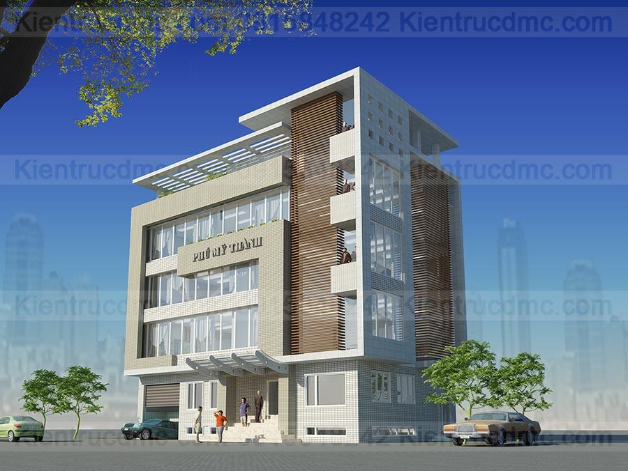 Thiết kế trụ sở văn phòng làm việc Phú Mỹ Thành.