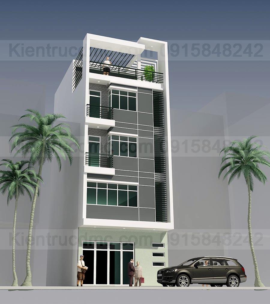 Thiết kế nhà phố 5 tầng diện tích 50m2