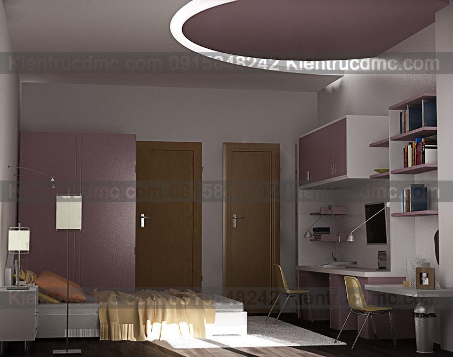 Thiết kế nội thất nhà ở 4 tầng diện tích 20m2.