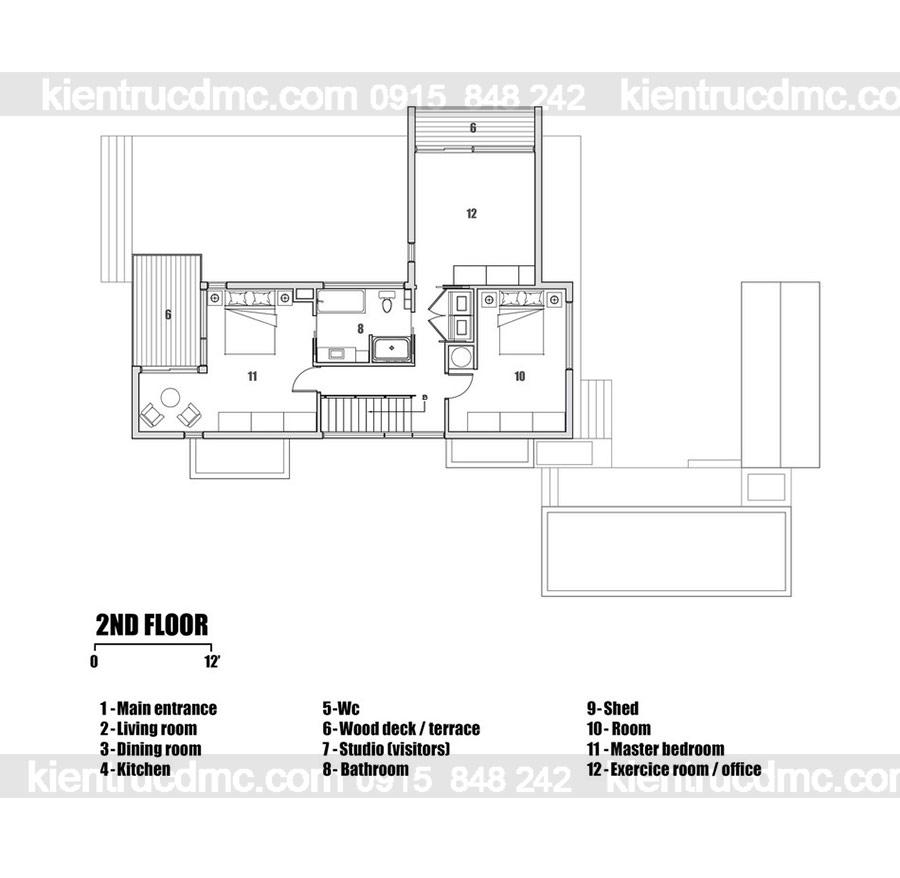 Mẫu nhà 2 tầng đẹp - Mẫu số 13