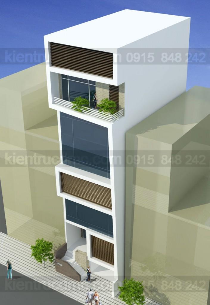 Thiết kế nhà phố làm trụ sở văn phòng công ty