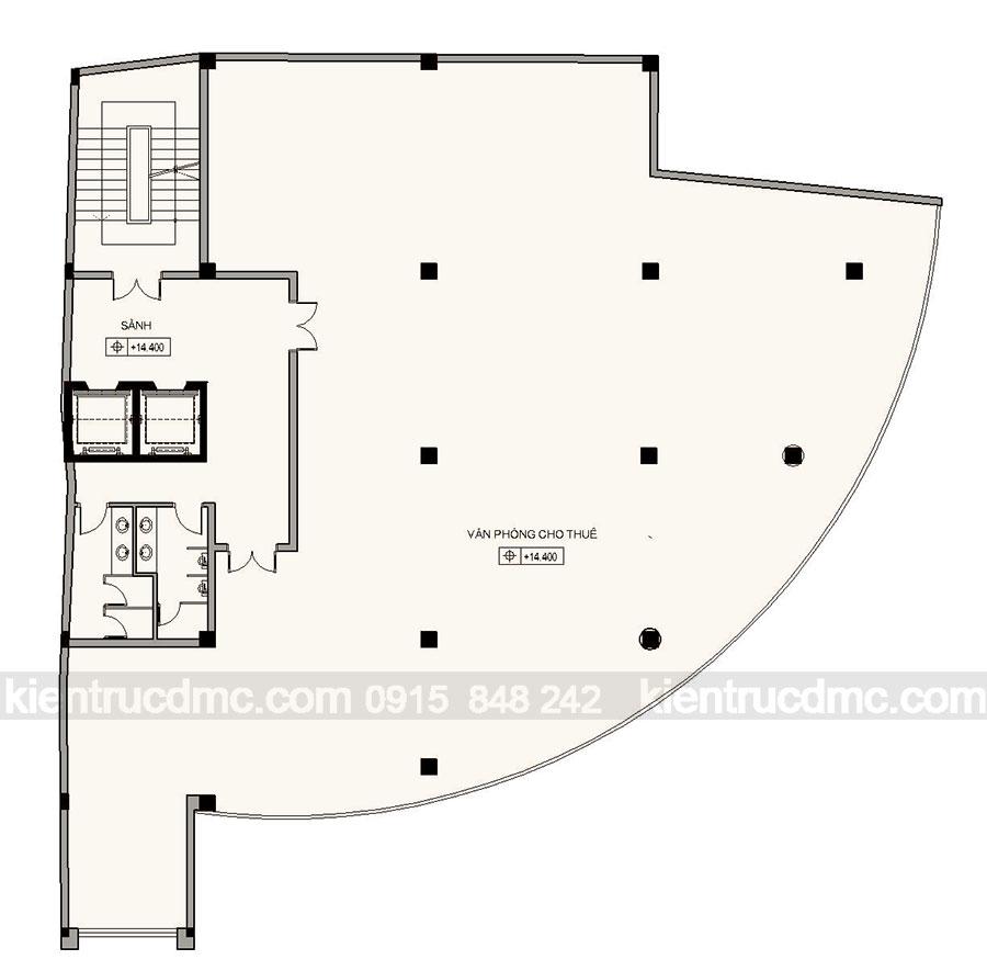 Thiết kế trung tâm thương mại và văn phòng cho thuê